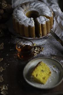 walnut pumpkin cake   by StellaMarPereira