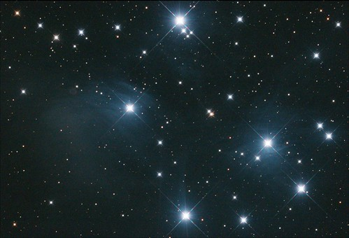 M45 MONO FLAT Stack_10frames_300s_WithDisplayStretch | by BlackWikkett