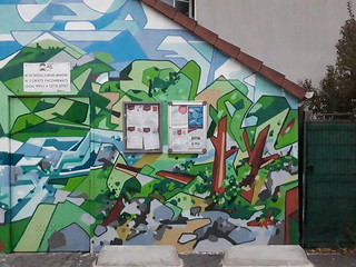 Commande de 3 fresques par 3F Immobilière.  Avec participation de la population sur une. 93 Montreuil. 10/2018