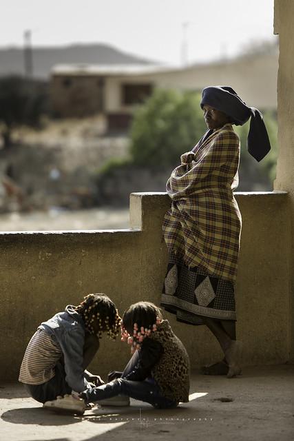 Mukubal woman in the market in Virei, Namibe. Angola.