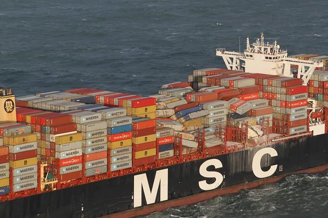 Noordzee - MSC Zoe