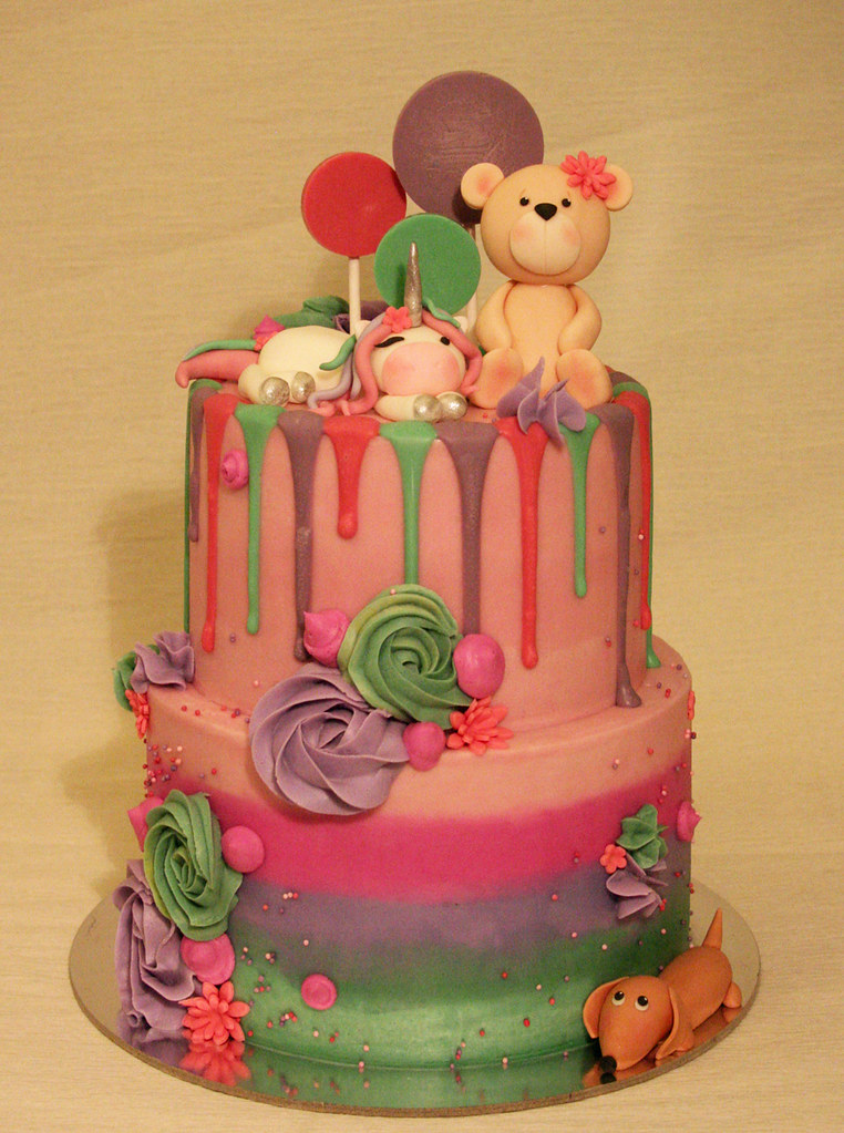 Miraculous Cuddly Animals Birthday Cake A Photo On Flickriver Funny Birthday Cards Online Benoljebrpdamsfinfo