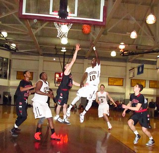 "In 2013, Haverford School's Levan ""Shawn / Shizz"" Alston makes this flip shot vs. Germantown Academy. 