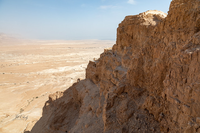 Spectacular Fortress of Masada Overlooking the Dead Sea