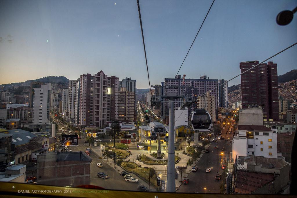 Estación Teleférico blanco, Miraflores La Paz