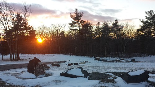 mountain mohawkmountain snow cold winter bleak forest ice woods sunset