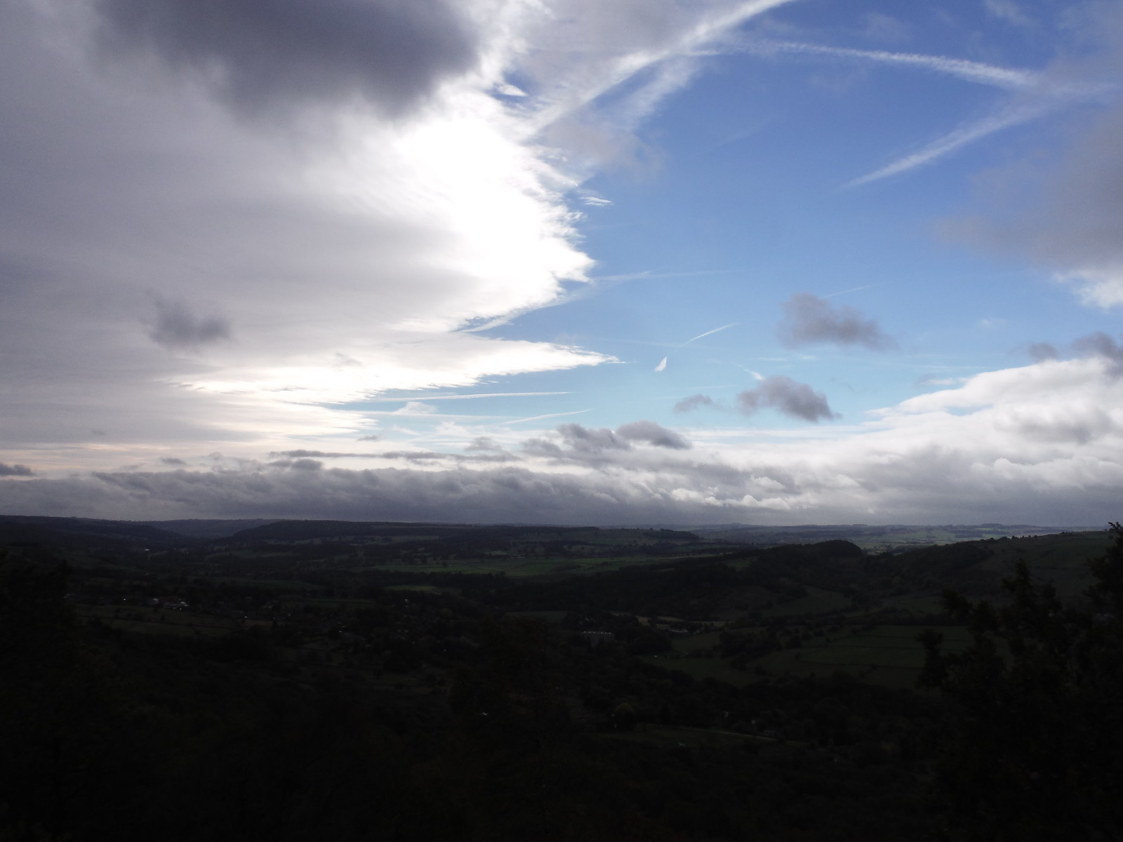 Skyscape over the Derwent Valley SWC Walk 322 - Grindleford Circular (via Chatsworth House)