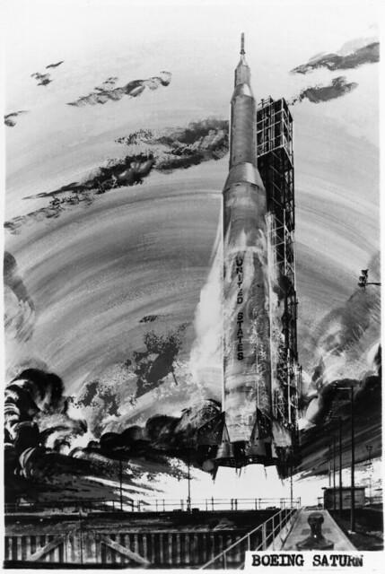 Boeing concept art - Saturn V launch