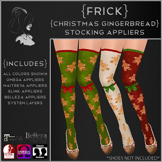 {Frick} Christmas Gingerbread Stocking Appliers