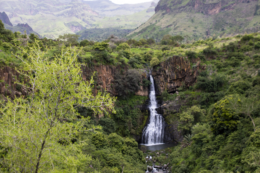 A Panoramic View Of Waterfalls In Jebel Marra Central Dar