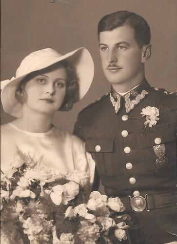 capitan Jerzy Bychowiec y su esposa