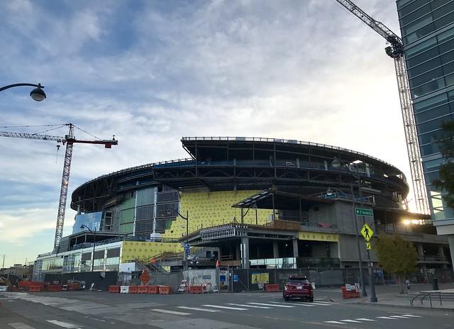 The #GoldenStateWarriors new stadium being built ,November 2018