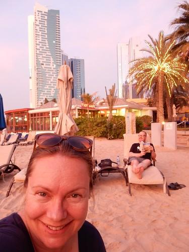 Abu Dhabi - sunset bij hotel