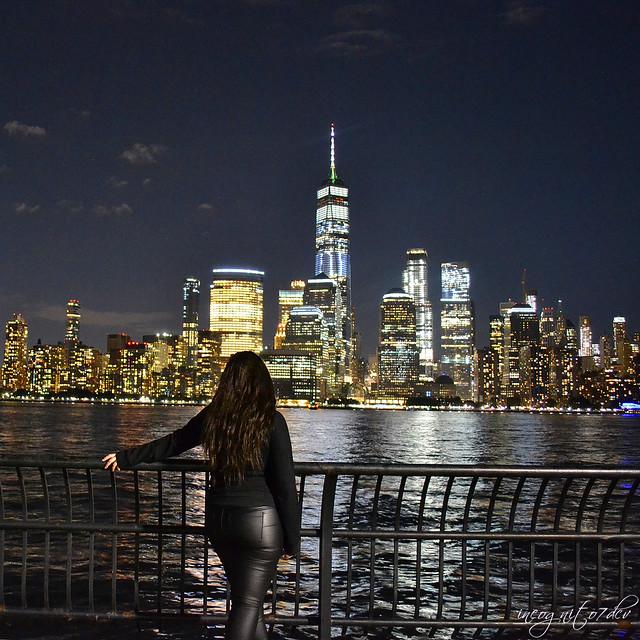 Lower Manhattan View from New Jersey World Trade Center City Lights at Night New York City NY Jersey City NJ P00001 DSC_1880