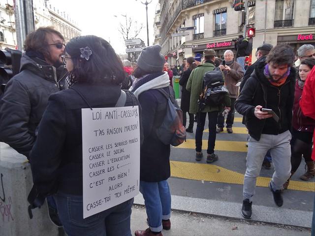 Manifestation 5 février 2019 à l'appel des syndicats et des «gilets jaunes»