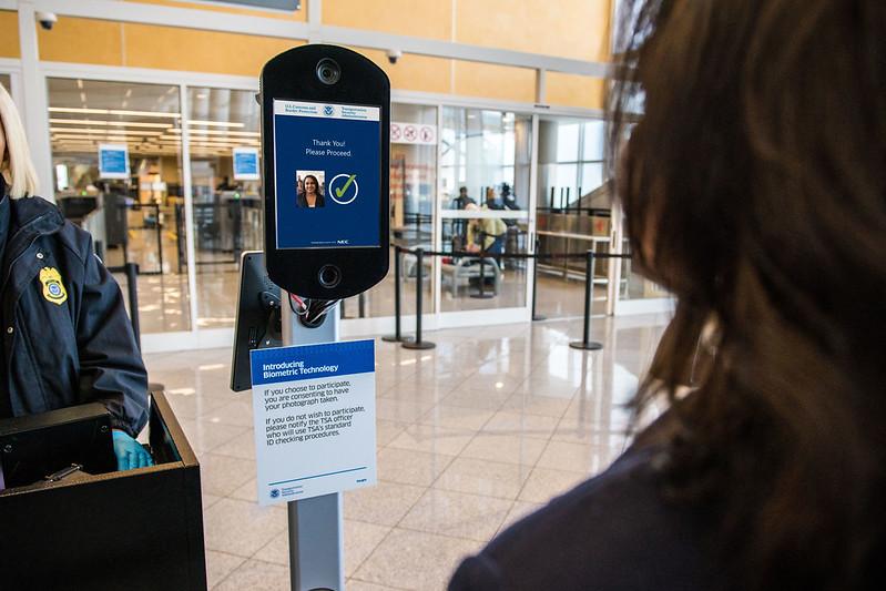 Customer clears TSA security checkpoint