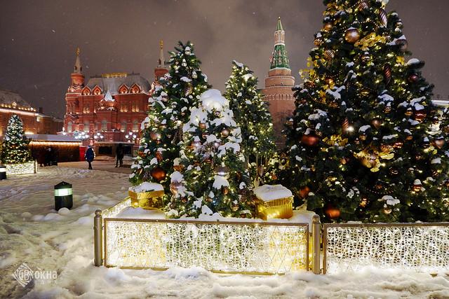 Новый год в Москве. Манежная площадь.
