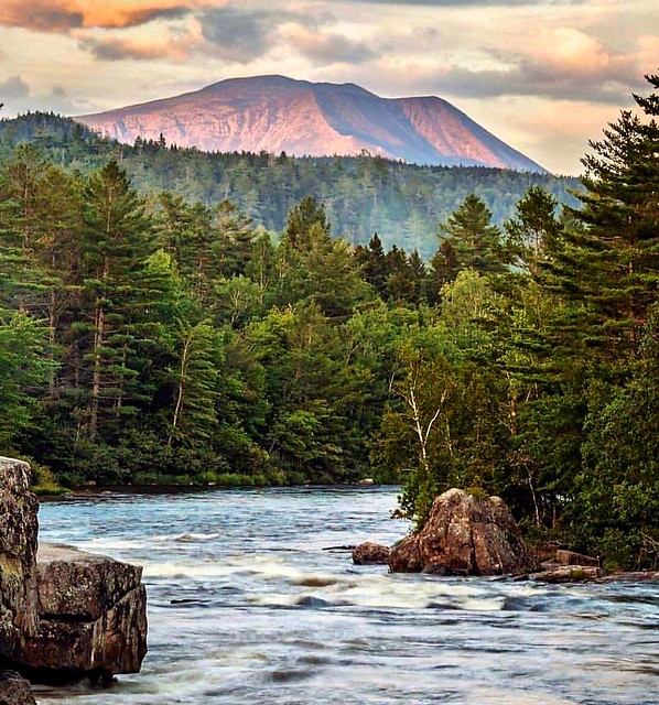 View of Mount Katahdin in Maine.