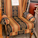 Solid frame wing back chair