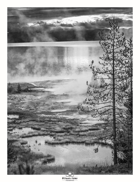 Morning at the Thermal Ponds by Yellowstone Lake