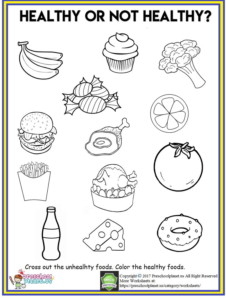 Healthy Food Worksheet Healthy Food Worksheet Cross Out Th