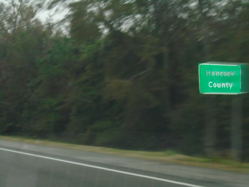 i10 hancockcounty mississippi sign countyline biggreensign