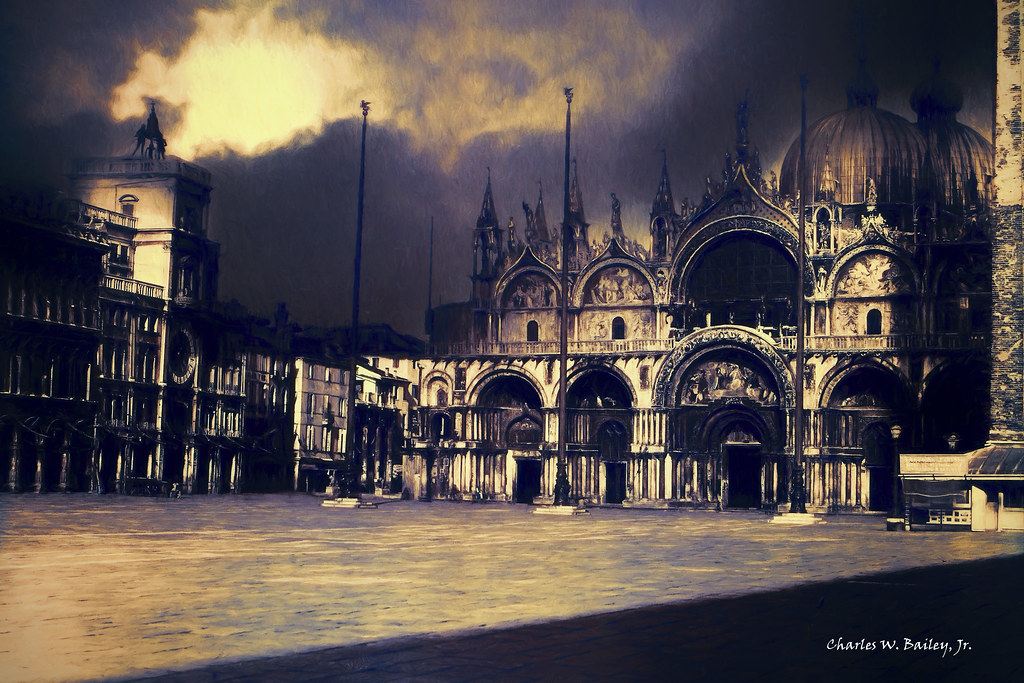 Digital Pastel Drawing of the Piazza San Marco