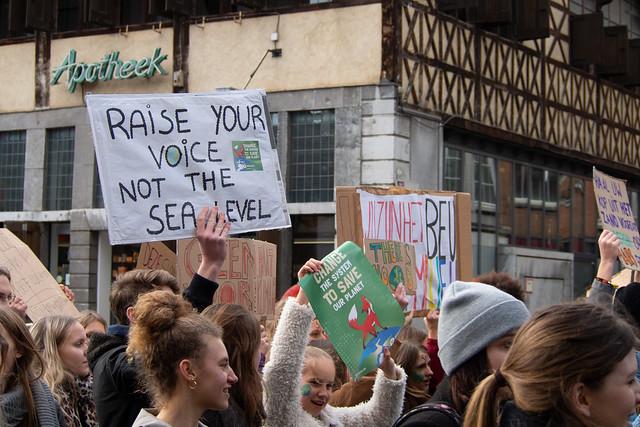 Klimaatbetoging scholieren Hasselt 3