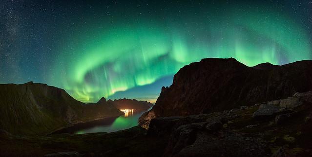 northern lights over Fjordgård