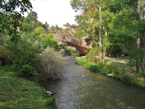 ayresnaturalbridge wyoming roadtrip countypark oregontrail landscape scenery laprelecreek