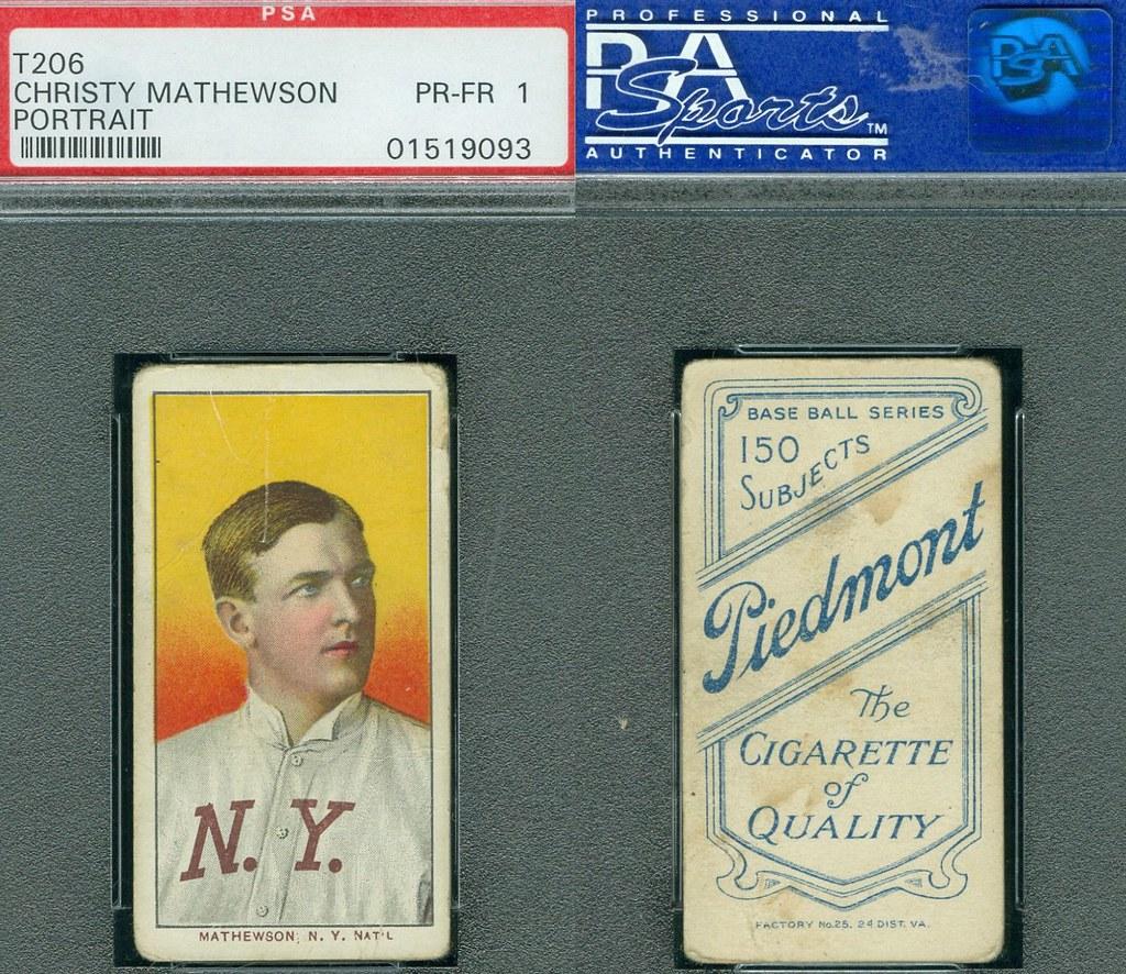 1909 11 T206 White Border Christy Mathewson Portrait