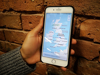 Map of the United Kingdom on Apple maps, pictured on an iPhone 8 plus | by Holiday Gems UK