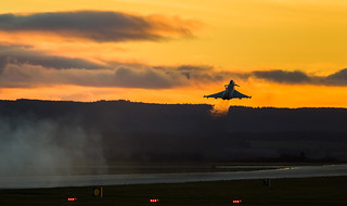 ZK323 Typhoon departure, Lossiemouth | by wwshack