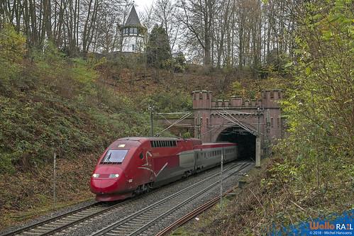 4322 Thalys . E 13467 . Aachen (Gemmenichertunnel) 28.11.18.