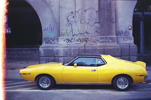 A muscled car