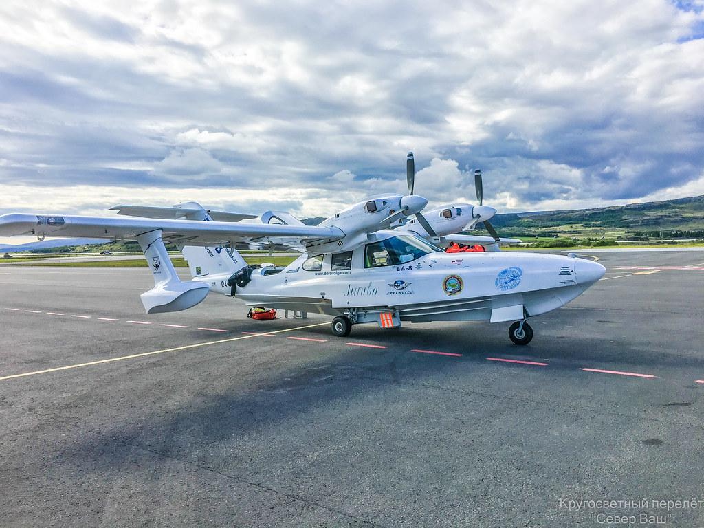 Ла-8 в аэропорту Egilsstadir