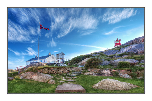 Unusual pov of the most southern lighthouse of Norway   by Fr@ηk 