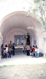Lanzara fraz. di Castel San Giorgio (SA), 1973 circa, Festa di San Biagio.