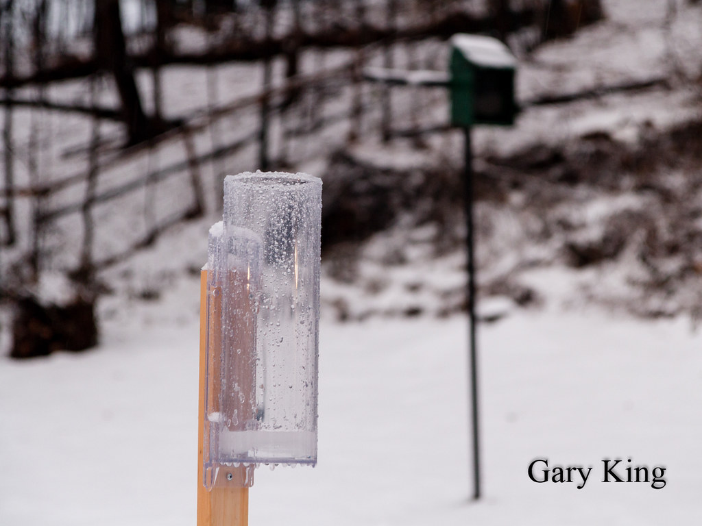 Rain Gauge | Now recording precip year round and reporting o