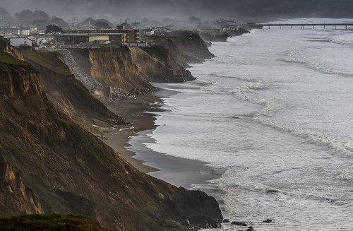 bayarea california nikon d810 color november 2018 boury pbo31 brown pacifica sanmateocounty pacific ocean storm wave tide water over shore beach westcoast