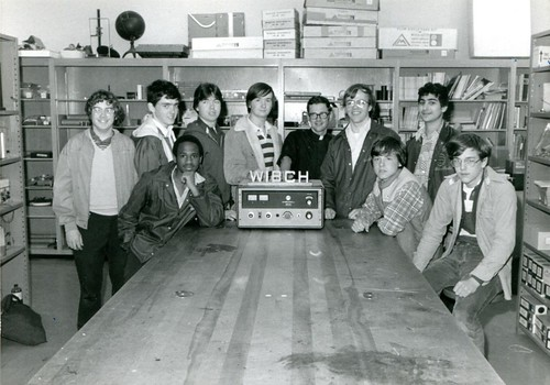WIBCH - BC High's student run radio station in the 1970's - Brother Michael T. Greenler, S.J. | by BC High Archives
