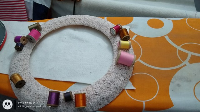Sewing room wreath project