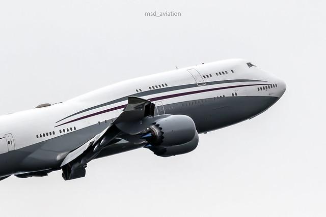 Boeing 747-8KB(BBJ) A7-HBJ Qatar Amiri Flight