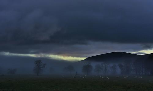 lamington mist sunrise