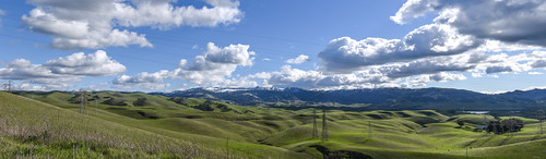 bayarea california nikon d810 color over blue february 2019 winter boury pbo31 outdoors sky alamedacounty green snow capped country clouds hills livermore eastbay wine farm panorama view stitched large panoramic
