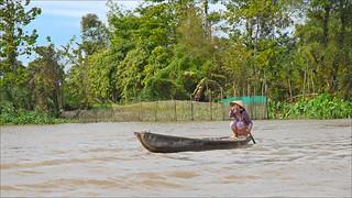 Dans le delta du Mékong (Long Xuyen, Vietnam)