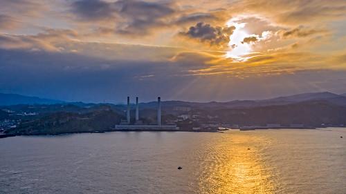 協和電廠 空拍 aerialphoto sunset 日落 台灣 基隆 ocean marvic2pro