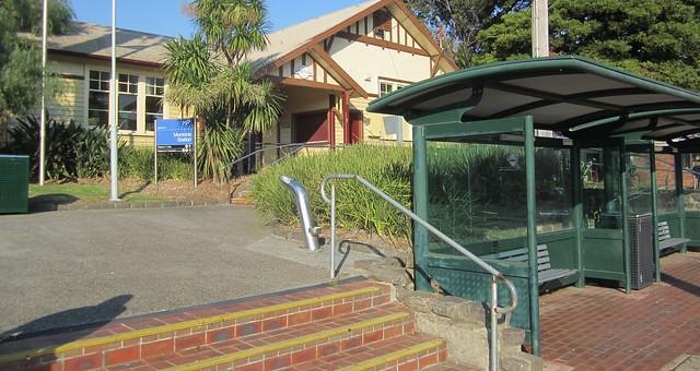 Mentone station March 2019 - bus interchange next to station entrance