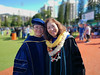 Kalma Wong, left, and her dissertation chair Professor Wei Zhang at the University of Hawaii at Manoa fall commencement ceremony on December 15, 2018. Wong received her PhD in sociology.