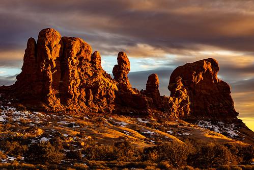 utah archesnationalpark nationalpark redrocks sunset glow moabutah landscapephotography jamesmarvinphelps jamesmarvinphelpsphotography